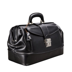 Image 2 of the 'Donnini' Black Veg-Tanned Leather Doctor's Bag
