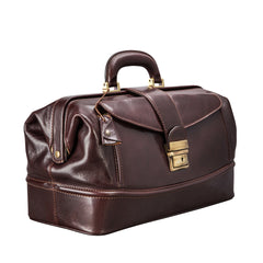 Image 2 of the 'Donnini' Dark Chocolate Veg-Tanned Leather Doctor's Bag