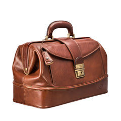 Image 2 of the 'Donnini' Chestnut Veg-Tanned Leather Doctor's Bag