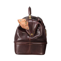 Image 3 of the 'Donnini' Dark Chocolate Veg-Tanned Leather Doctor's Bag