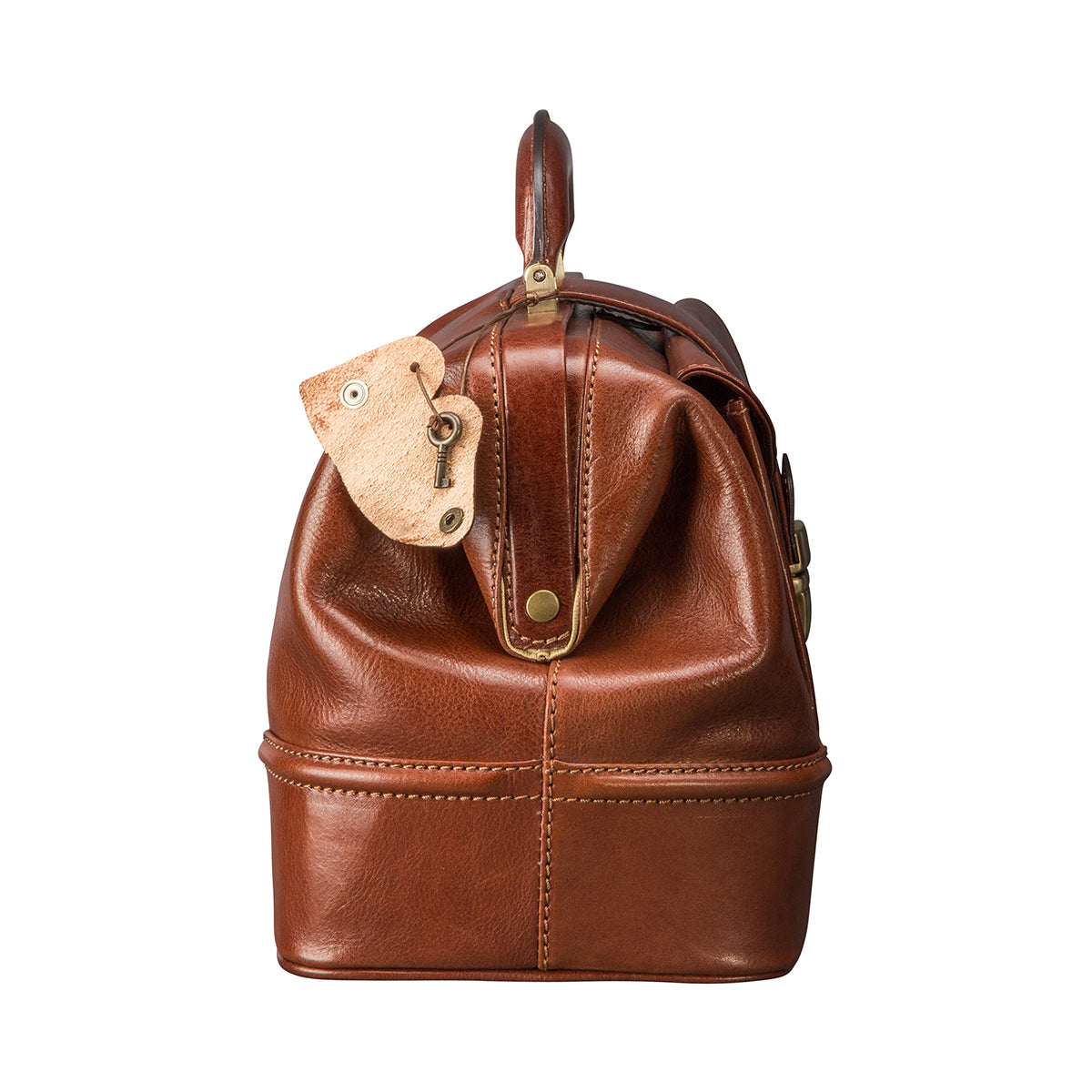 Image 3 of the 'Donnini' Chestnut Veg-Tanned Leather Doctor's Bag