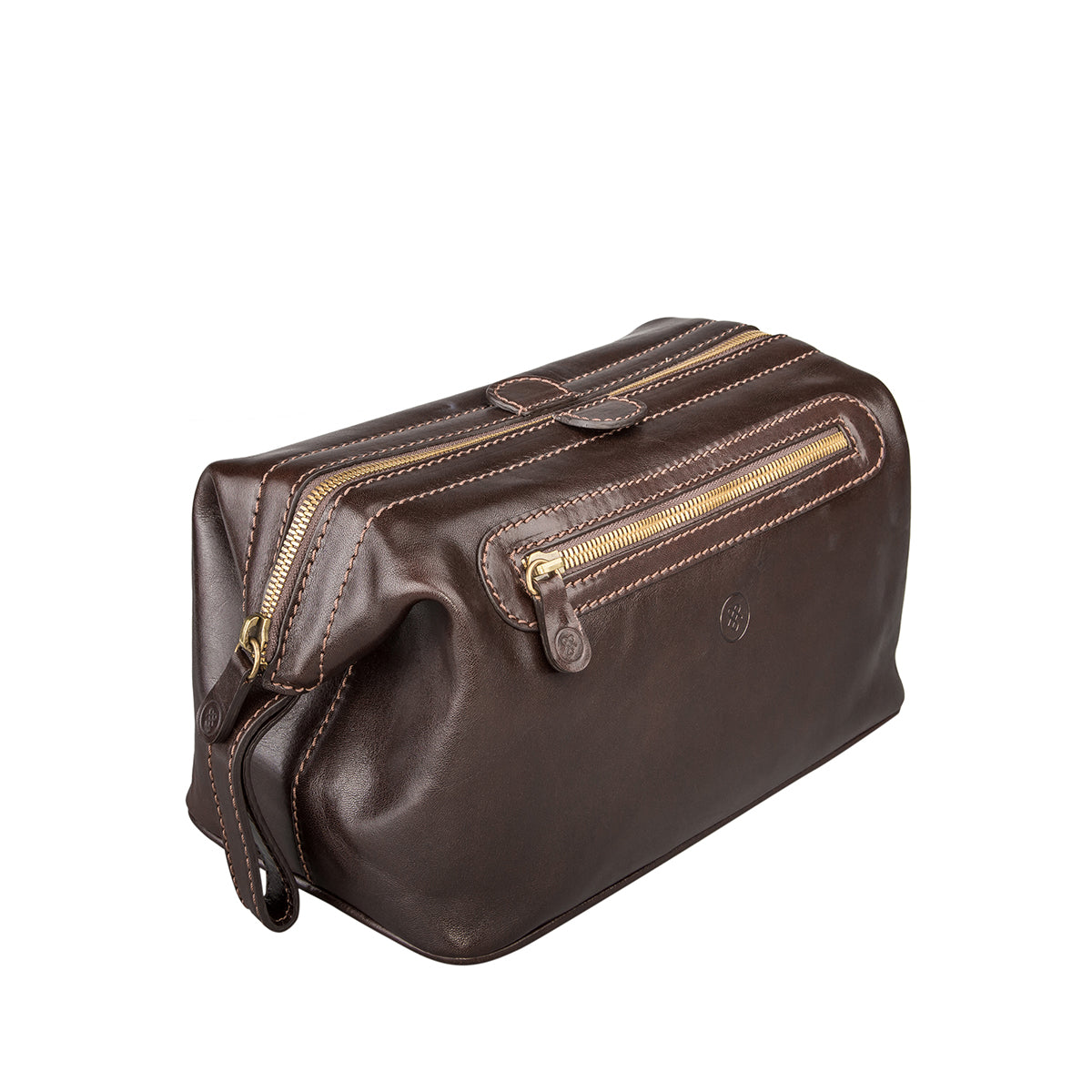 Image 2 of the 'Duno L'  Brown Veg-Tanned Leather Wash Bag