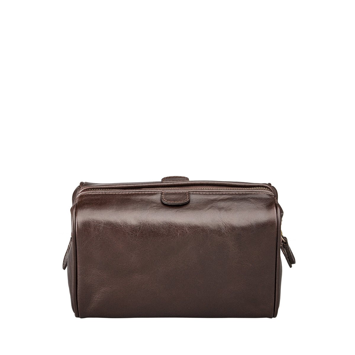 Image 4 of the 'Duno' Chocolate Veg-Tanned Leather Wash Bag