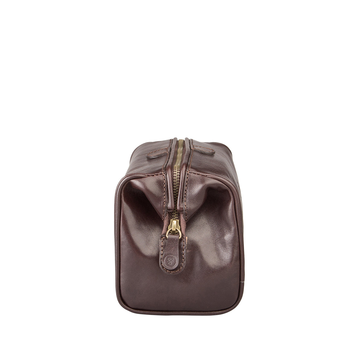 Image 3 of the 'Duno' Chocolate Veg-Tanned Leather Wash Bag