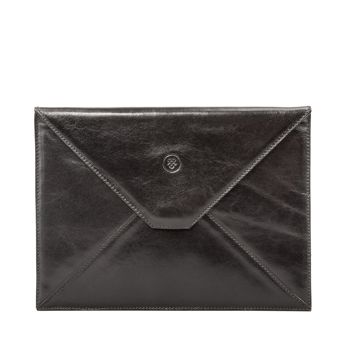 Image 1 of the 'Ettore' Black Veg-Tanned Leather Tablet Case