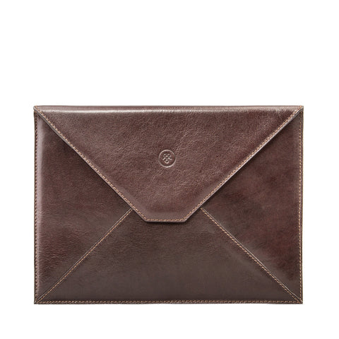 Image 1 of the 'Ettore' Dark Chocolate Veg-Tanned Leather Tablet Case