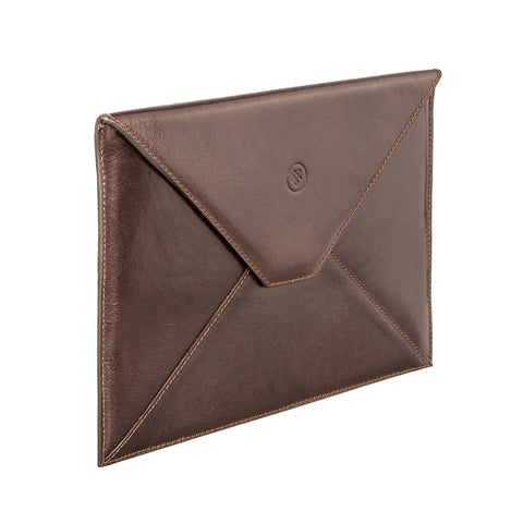 Image 2 of the 'Ettore' Dark Chocolate Veg-Tanned Leather Tablet Case