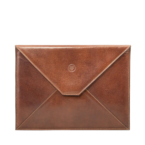 Image 1 of the 'Ettore' Chestnut Veg-Tanned Leather Tablet Case