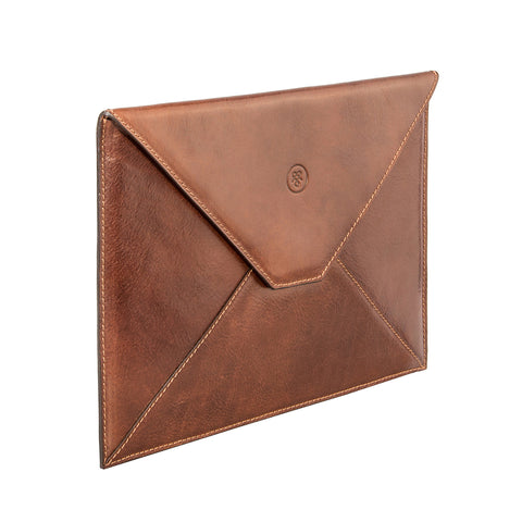 Image 2 of the 'Ettore' Chestnut Veg-Tanned Leather Tablet Case