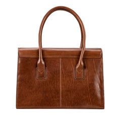 Image 4 of the 'Fabia' Chestnut Veg-Tanned Leather Workbag