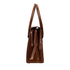 Image 3 of the 'Fabia' Chestnut Veg-Tanned Leather Workbag