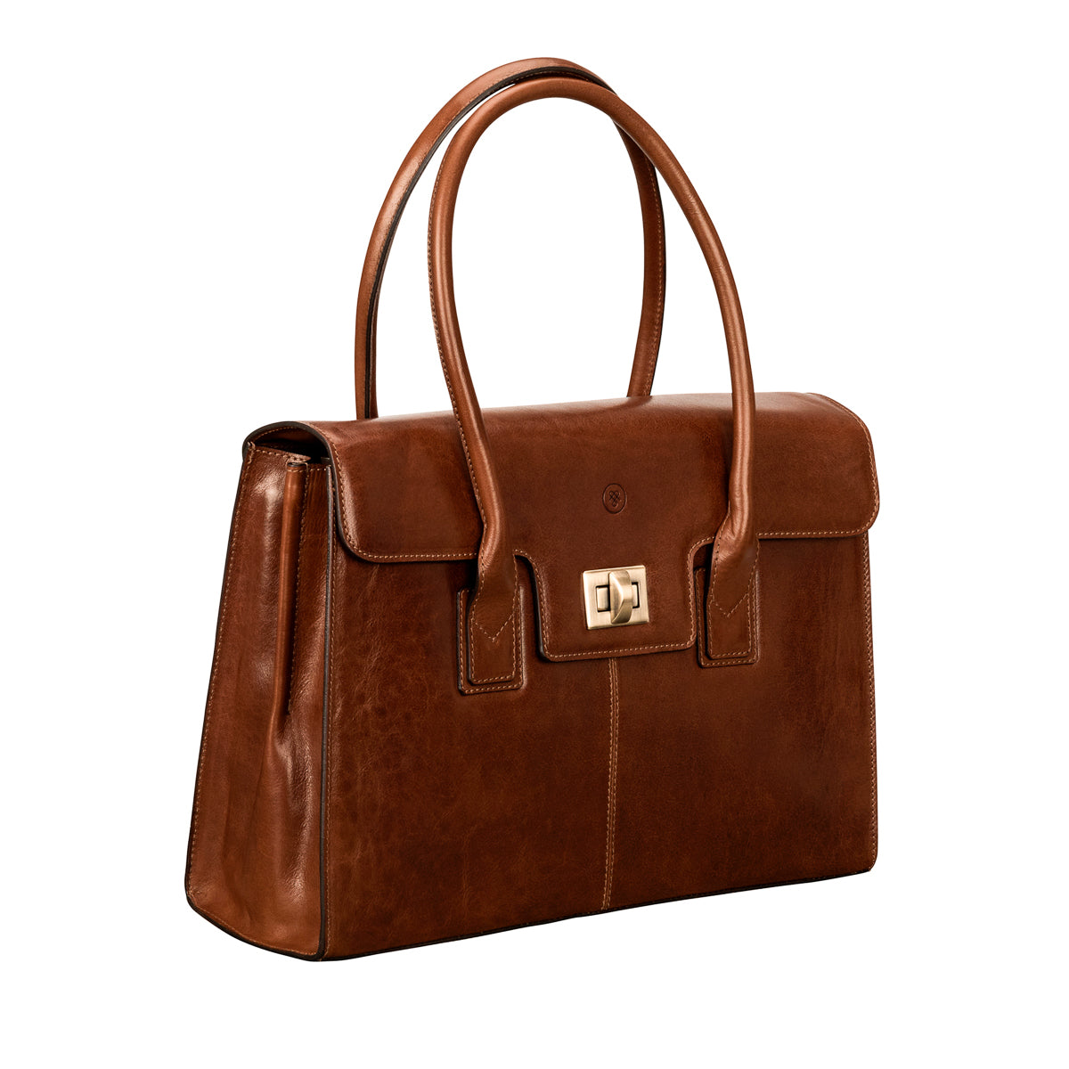 Image 2 of the 'Fabia' Chestnut Veg-Tanned Leather Workbag