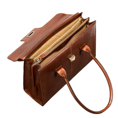 Image 5 of the 'Fabia' Chestnut Veg-Tanned Leather Workbag