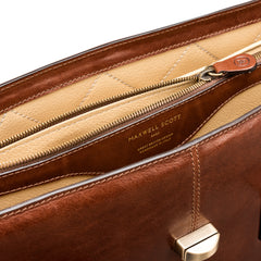 Image 6 of the 'Fabia' Chestnut Veg-Tanned Leather Workbag