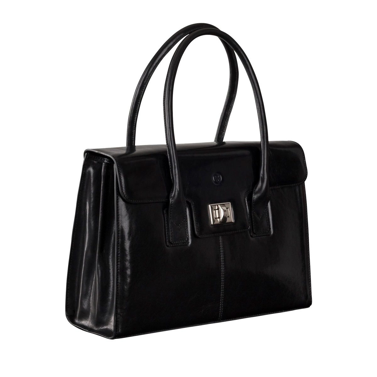 Image 2 of the 'Fabia' Black Veg-Tanned Leather Workbag