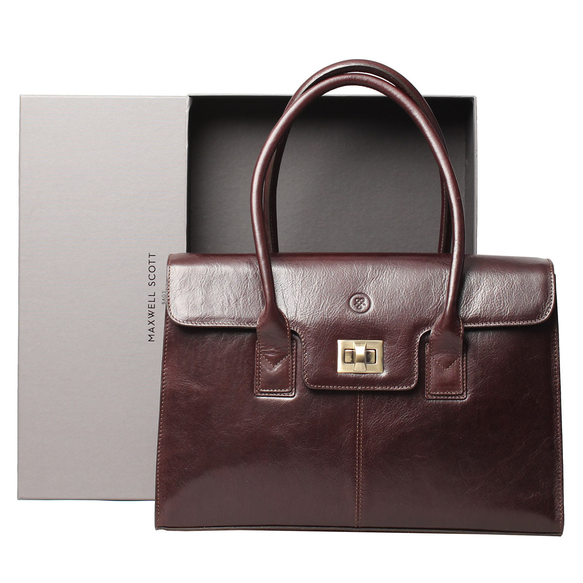 Image 5 of the 'Fabia' Chocolate Croco Veg-Tanned Leather Workbag