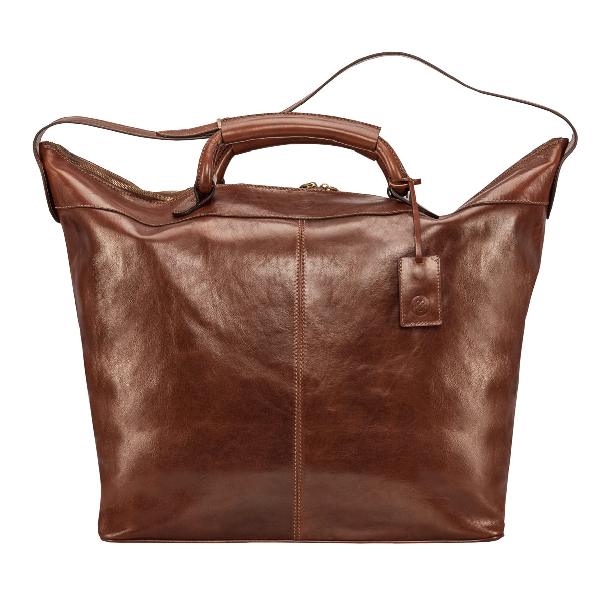 Image 1 of the 'Fabrizio' Chestnut Veg-Tanned Leather Holdall