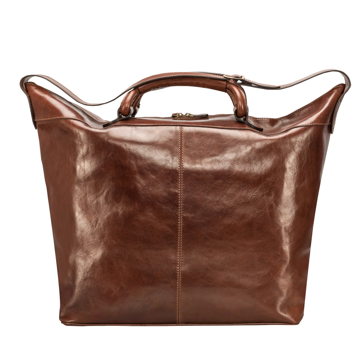Image 4 of the 'Fabrizio' Chestnut Veg-Tanned Leather Holdall