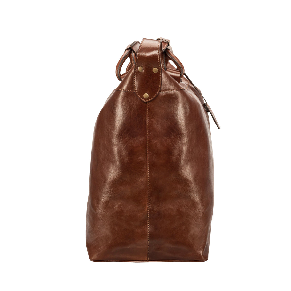 Image 3 of the 'Fabrizio' Chestnut Veg-Tanned Leather Holdall