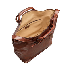 Image 5 of the 'Fabrizio' Chestnut Veg-Tanned Leather Holdall