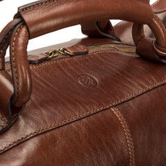 Image 6 of the 'Fabrizio' Chestnut Veg-Tanned Leather Holdall