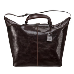 Image 1 of the 'Fabrizio' Chocolate Veg-Tanned Leather Holdall