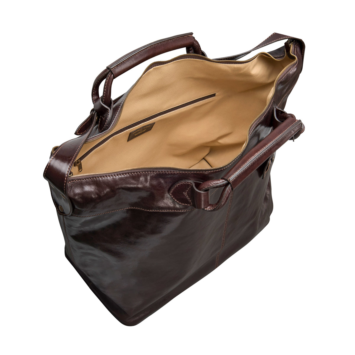 Image 4 of the 'Fabrizio' Chocolate Veg-Tanned Leather Holdall