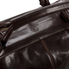 Image 5 of the 'Fabrizio' Chocolate Veg-Tanned Leather Holdall
