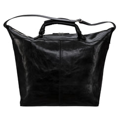 Image 4 of the 'Fabrizio' Black Veg-Tanned Leather Holdall