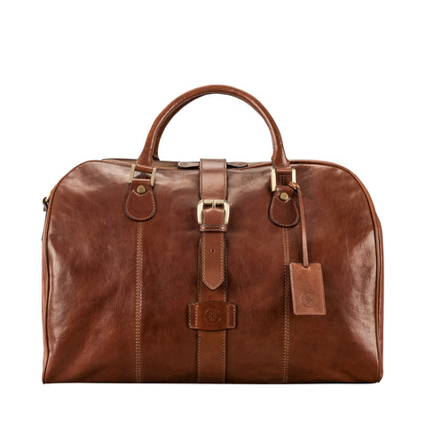 Image 1 of the 'Farini' Chestnut Veg-Tanned Leather Luxury Hand Luggage