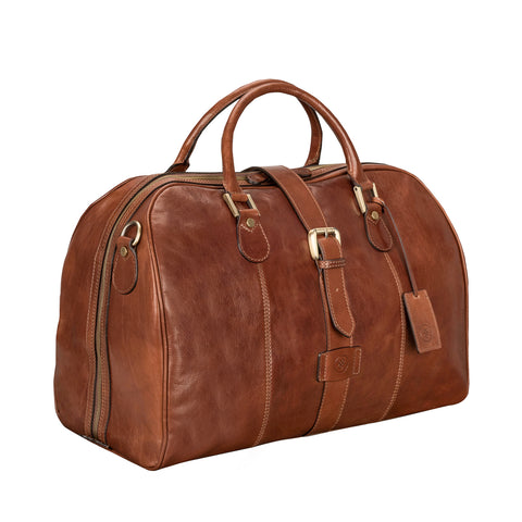 Image 2 of the 'Farini' Chestnut Veg-Tanned Leather Luxury Hand Luggage