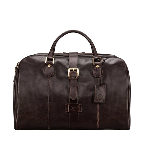 Image 1 of the 'Farini' Dark Chocolate Veg-Tanned Leather Luxury Hand Luggage