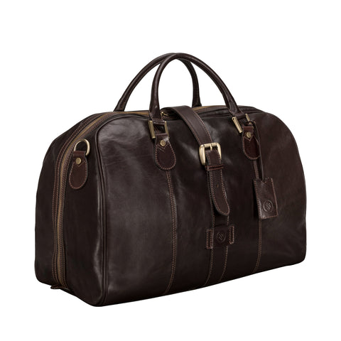 Image 2 of the 'Farini' Dark Chocolate Veg-Tanned Leather Luxury Hand Luggage