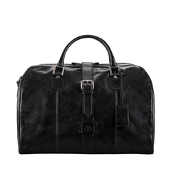 Image 1 of the 'Farini' Black Veg-Tanned Leather Luxury Hand Luggage