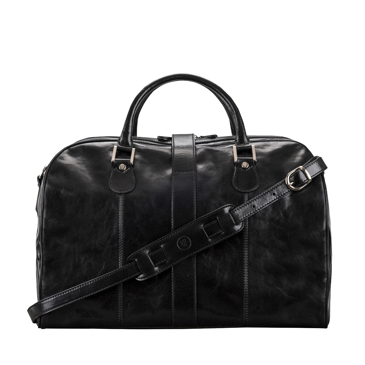 Image 4 of the 'Farini' Black Veg-Tanned Leather Luxury Hand Luggage