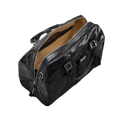 Image 5 of the 'Farini' Black Veg-Tanned Leather Luxury Hand Luggage