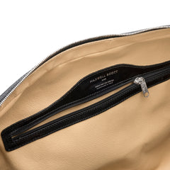 Image 6 of the 'Farini' Black Veg-Tanned Leather Luxury Hand Luggage