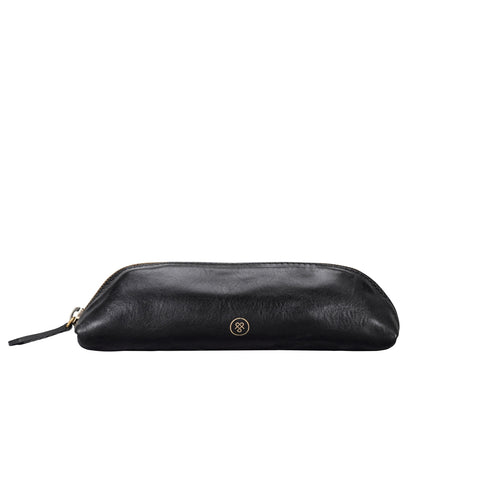 Image 1 of the 'Felice' Black Veg-Tanned Leather Pencil Case