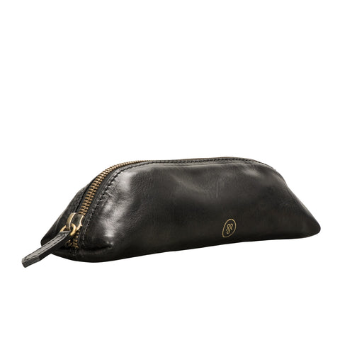 Image 2 of the 'Felice' Black Veg-Tanned Leather Pencil Case