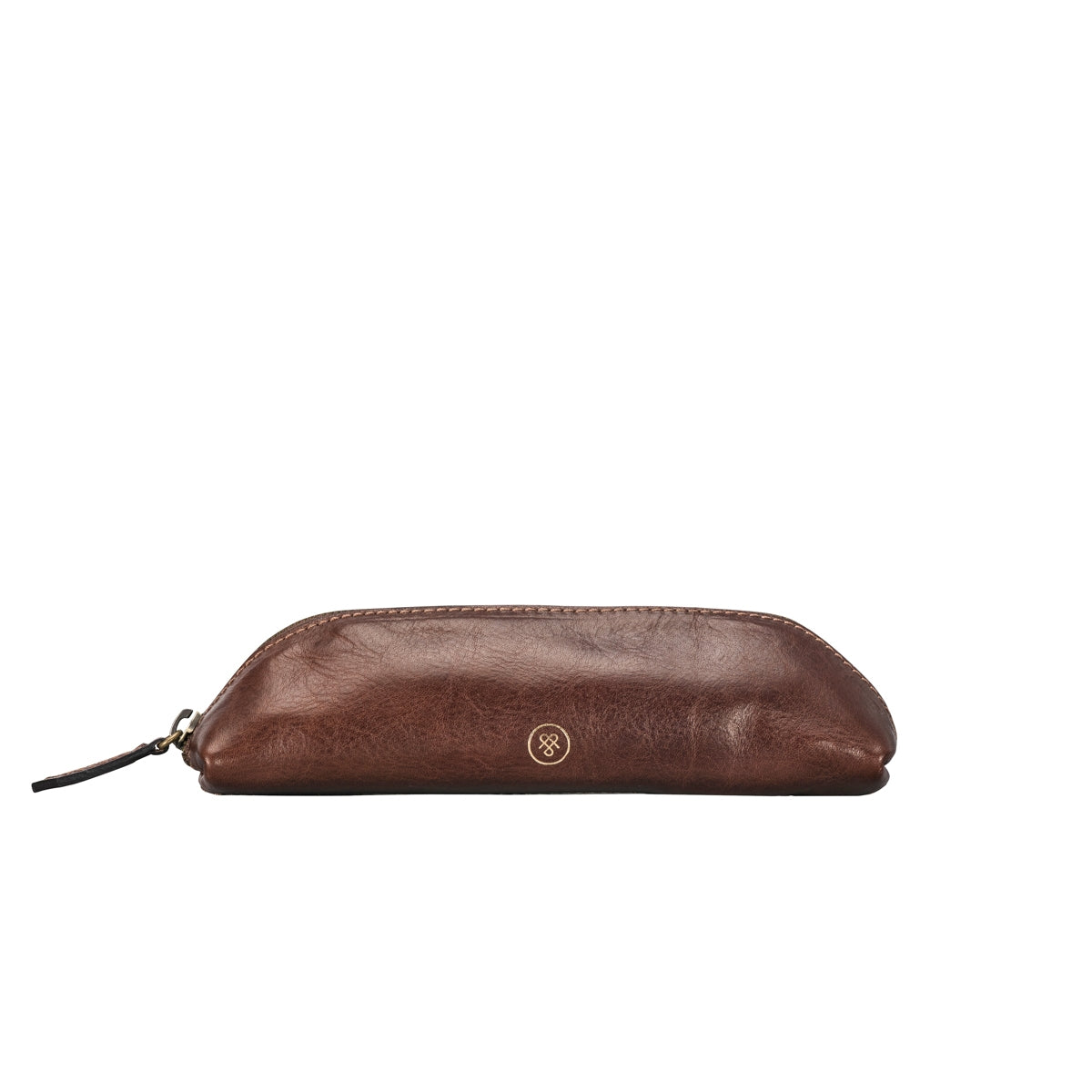 Image 1 of the 'Lorena' Leather Makeup Brush Case Tan