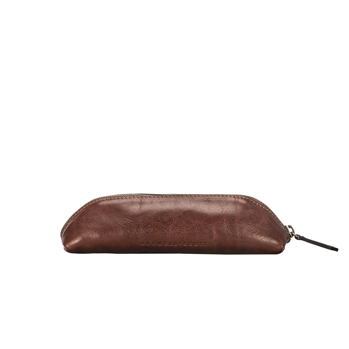 Image 4 of the 'Lorena' Leather Makeup Brush Case Tan