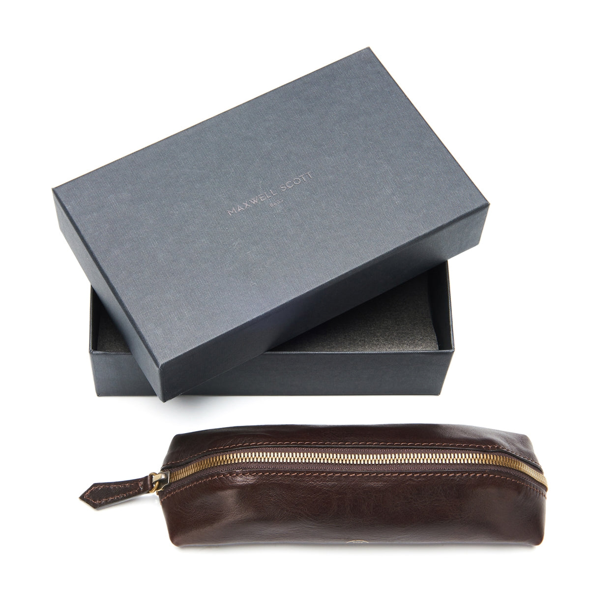 Image 6 of the 'Felice' Dark Chocolate Veg-Tanned Leather Pencil Case