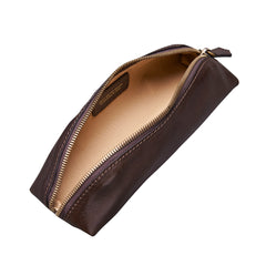 Image 5 of the 'Felice' Dark Chocolate Veg-Tanned Leather Pencil Case