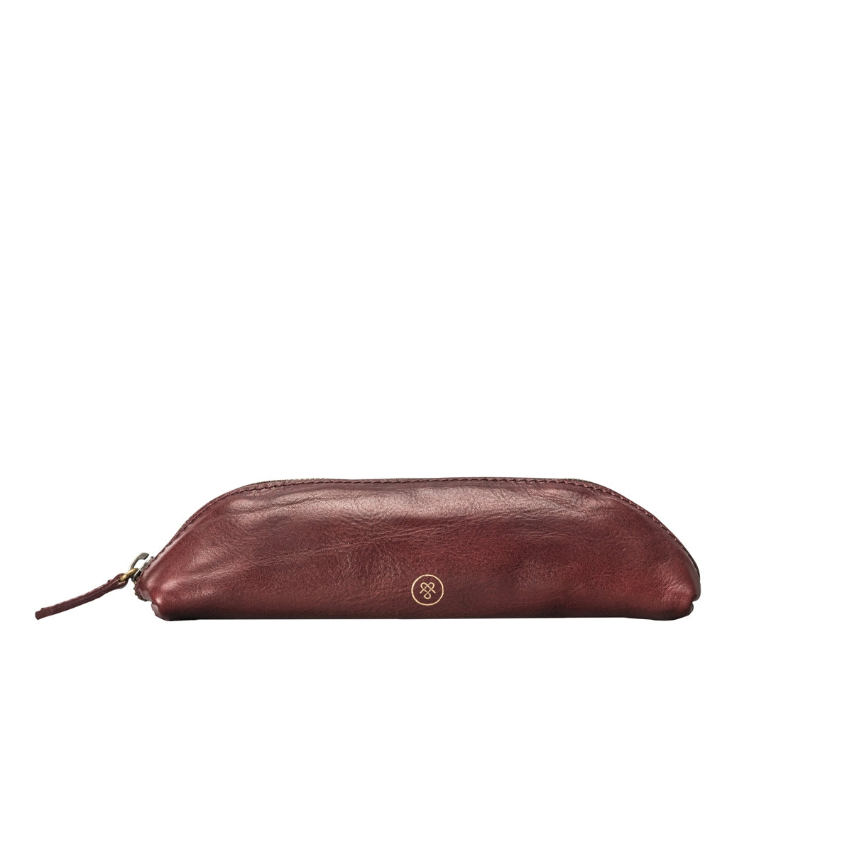 Image 1 of the 'Felice' Wine Leather Slim Pencil Case