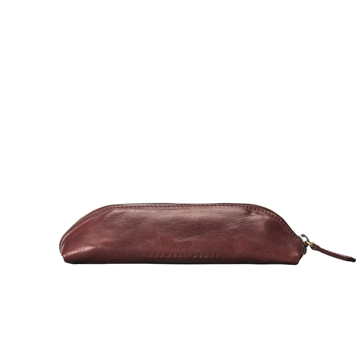Image 4 of the 'Felice' Wine Leather Slim Pencil Case