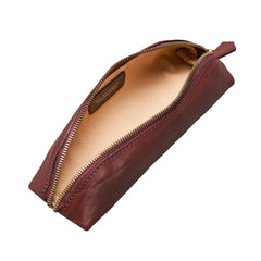 Image 5 of the 'Felice' Wine Leather Slim Pencil Case