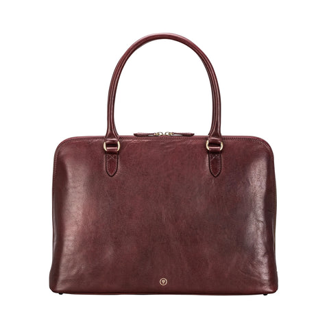 Image 1 of the 'Fiorella' Wine Leather Ladies Work Bag