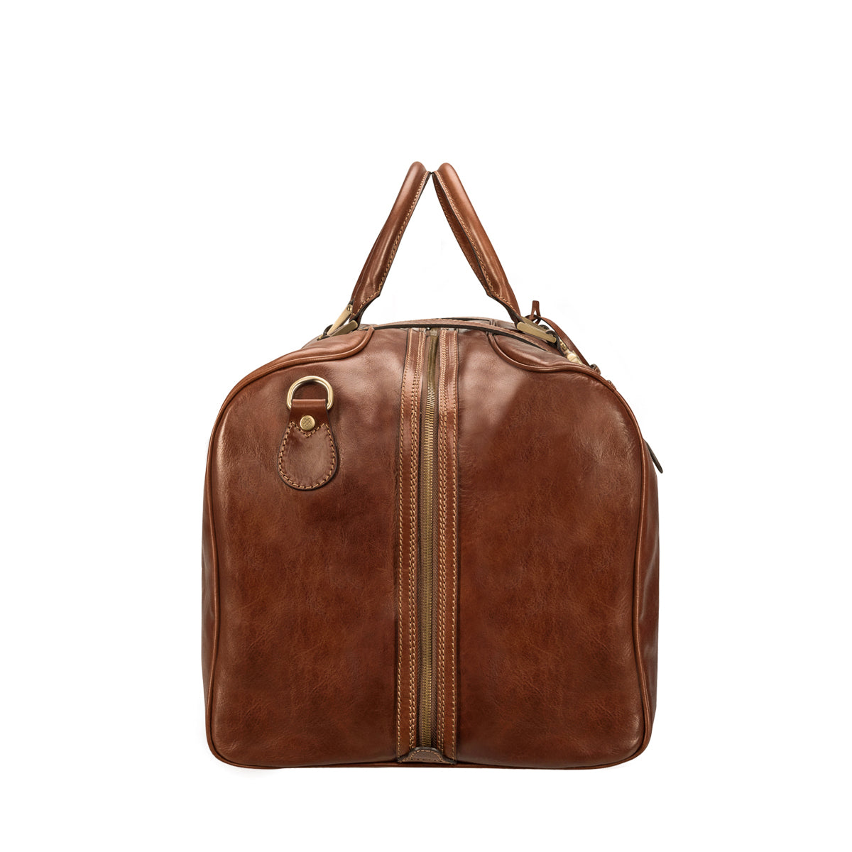 Image 3 of the Extra Large 'Flero' Chestnut Veg-Tanned Leather Holdall