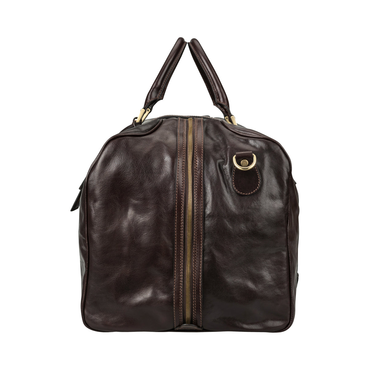 Image 3 of the Extra Large 'Flero' Dark Chocolate Veg-Tanned Leather Holdall