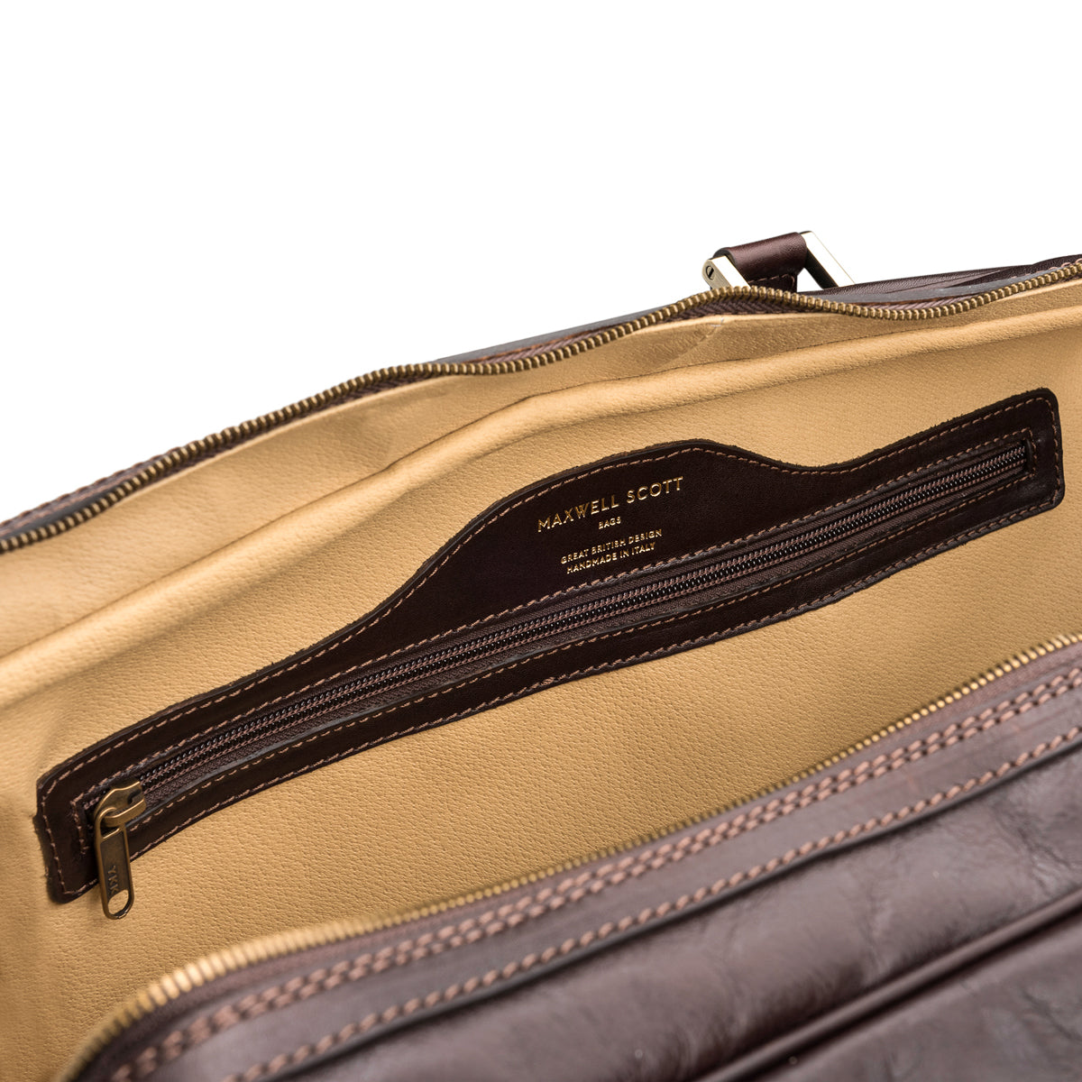 Image 6 of the Extra Large 'Flero' Dark Chocolate Veg-Tanned Leather Holdall